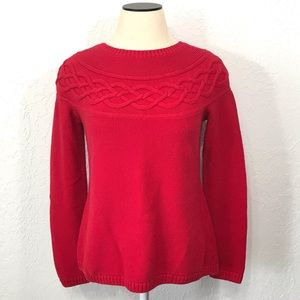 Talbots Women's Red Pullover Knit Sweater Size S